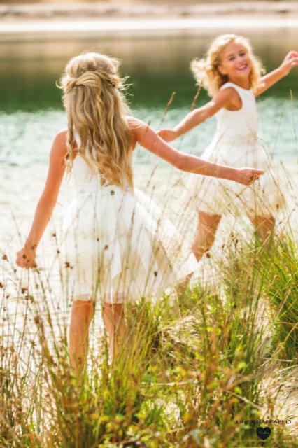 Linea Raffaelli kids 2021 - Set 011 - Dress 210-537-01 + Set 016 - Dress 210-531-01 Back