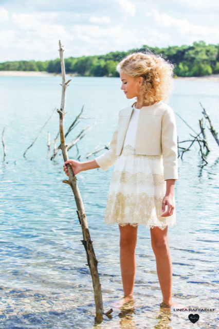 Linea Raffaelli kids 2021 - Set 016 - Jacket 210-556-01 - Dress 210-531-01