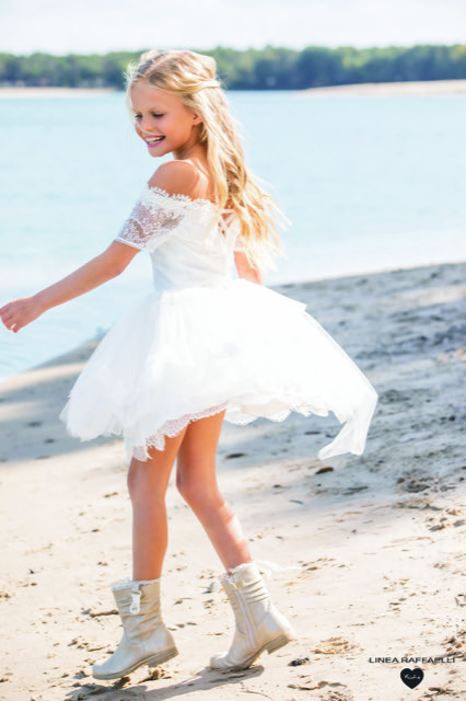 Linea Raffaelli kids 2021 - Set 020 - Dress 210-507-01 Back