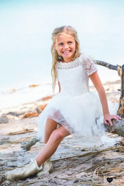 Linea Raffaelli kids 2021 - Set 020 - Dress 210-507-01 Sitting