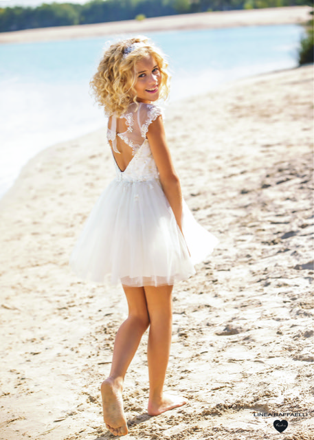 Linea Raffaelli kids 2021 - Set 049 - Dress 210-547-01 Back